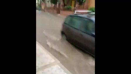 Ciclone si abbatte sulle coste ioniche: circa 80 mm d'acqua caduti in una sola ora