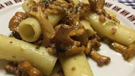 Rigatoni funghi e speck: la ricetta del primo piatto davvero saporito