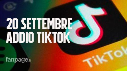 Da domenica TikTok sarà bandito dagli Stati Uniti: sparirà da Play Store e App Store