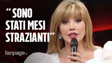"""Milly Carlucci: """"Ancora non ci credo di essere qui, sono stati mesi strazianti e di sofferenza"""""""