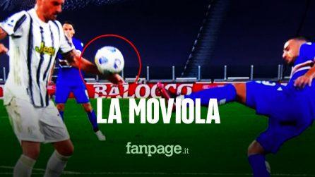 Juventus - Sampdoria, la moviola: Bonucci tocca il pallone con il braccio, dubbio rigore mancato