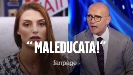 """Franceska Pepe alza la voce, la sfuriata di Signorini: """"Maleducata, questa è casa mia"""""""