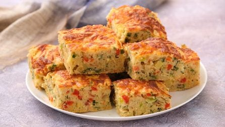 Potato and bell peppers cake: how to make it fluffy and moist!