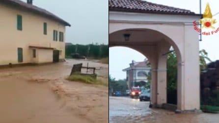 Maltempo, esodano due torrenti a Saluzzo: acqua anche negli edifici