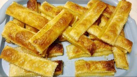 Sfogliatine di pasta sfoglia: la ricetta del dessert veloce e buonissimo