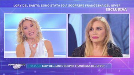 Lory Del Santo a Pomeriggio Cinque: ''Sono stata io a scoprire Franceska del GFVIP''