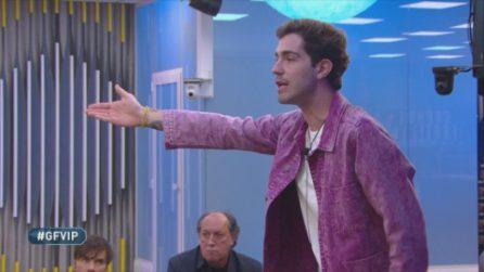 """Tommaso Zorzi minaccia di abbandonare la Casa dopo lo sketch su Garko: """"Se è così, vado via"""""""