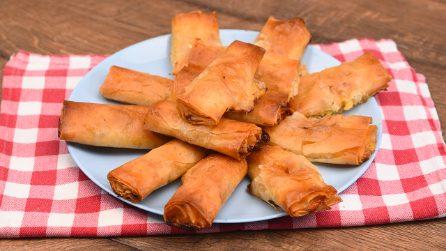 Involtini di pasta fillo: l'antipasto sfizioso pronto in meno di 30 minuti!