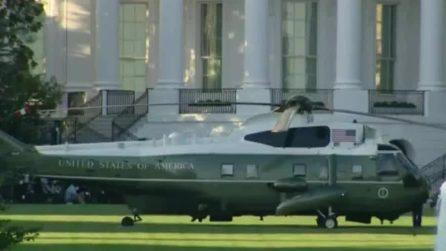 Trump ha la febbre: elicottero militare alla Casa Bianca per trasportarlo in ospedale
