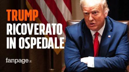 """Donald Trump ricoverato per Coronavirus: """"Ha la febbre. Misura di cautela"""""""