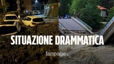Maltempo, situazione drammatica: crolla il ponte sul fiume Sesia, 17 dispersi e un morto