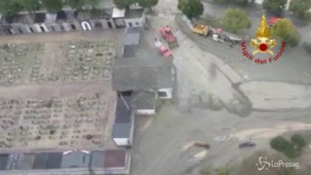 Maltempo, le immagini aeree sulla Val Tanaro: tutto ricoperto di fango