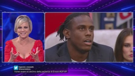 """GF Vip, Enock Barwuah perde la pazienza con Myriam Catania: """"La evito, non ci può essere legame"""""""