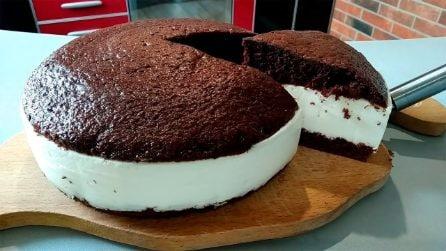 Torta cioccolato e crema: il dessert bellissimo, soffice e goloso