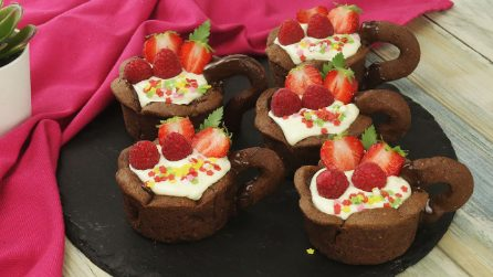 Tazzine di pasta frolla: l'idea originale per servire il dessert!