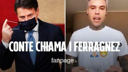 """Conte chiama Fedez e Ferragni: """"Ha chiesto un aiuto per sensibilizzare all'uso delle mascherine"""""""