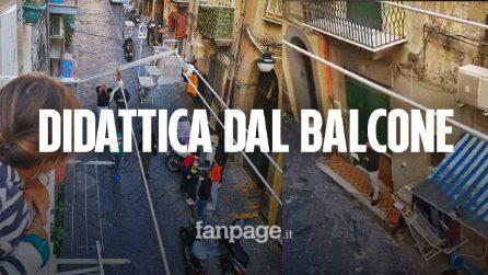 """Scuole chiuse a Napoli, ma nei vicoli nasce la DaB: """"Didattica Dal Balcone"""""""