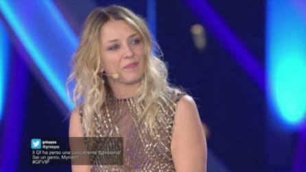 """GF VIP - Myriam Catania arriva in studio: """"Sono contenta di tornare a casa"""""""