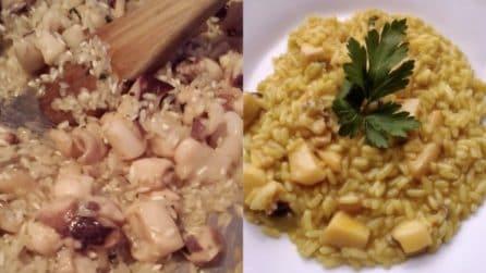 Risotto con seppia e zafferano: la ricetta del primo piatto squisito