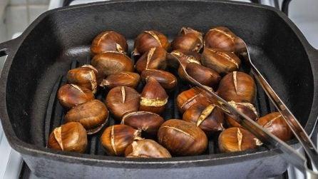 Castagne alla piastra: il metodo furbo per cuocerle velocemente