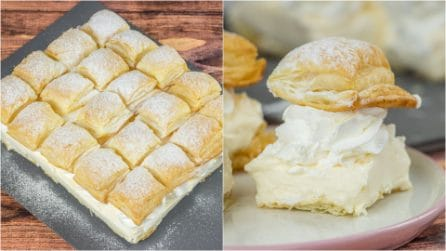 Puff pastry cream cake: everyone will love the result!