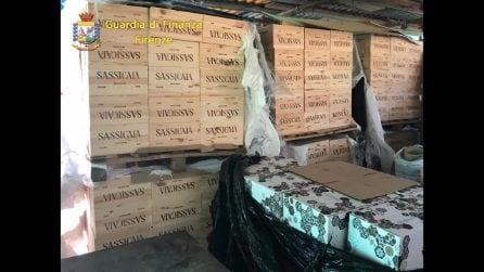 Toscana, cassa di finto vino Sassicaia cade da un camion: Gdf scopre contraffazione