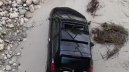 Crolla ponte a Picinisco, soccorso automobilista