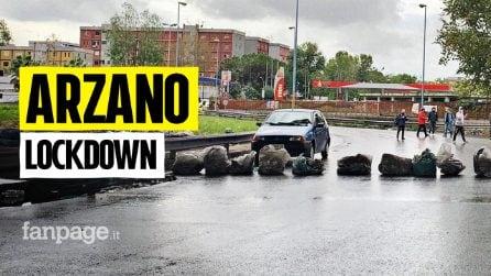 """Covid 19, Lockdown ad Arzano, commercianti bloccano le strade: """"O chiusura totale o fateci riaprire"""""""