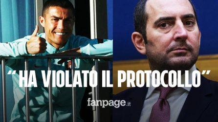 """Spadafora su Cristiano Ronaldo: """"Ha violato il protocollo"""". Ma era autorizzato"""
