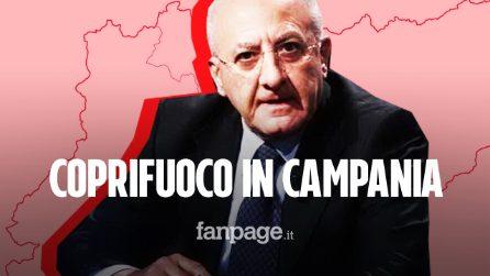 """De Luca, coprifuoco in Campania: """"Chiuderemo tutto alle 22. Halloween è un'idiozia"""""""