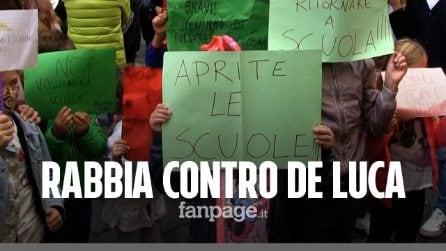 """Scuola, trasporti, sanità tutti in piazza contro De Luca: """"In 7 mesi non ha fatto nulla per evitare questo"""""""