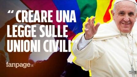 """Papa Francesco: """"Gli omosessuali hanno diritto a una famiglia. Sono figli di Dio"""""""