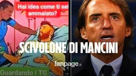 """Mancini su Instagram: """"Hai idea come ti sei ammalato di Covid? Guardando i TG"""""""