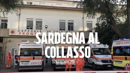 """La Sardegna collassa, ambulanze in coda fuori da ospedali: """"Attese di 10/12 ore, siamo allo stremo"""""""