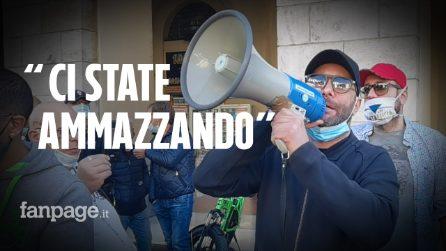"""Salerno, corteo anti-coprifuco, commercianti choc: """"Covid non è pericoloso per tutti"""""""