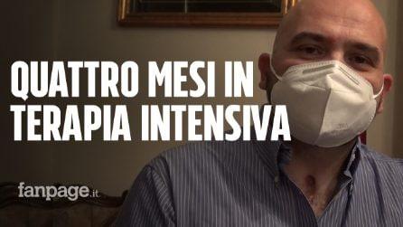 """Andrea, quattro mesi in terapia intensiva per Covid: """"Polmoni danneggiati al 60%, stiamo attenti"""""""
