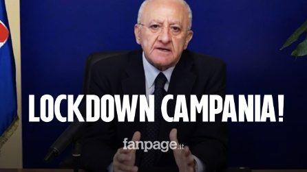 """Campania, De Luca: """"È necessario il lockdown. Non voglio le file di bare con le vittime Covid"""""""