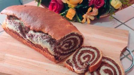 Pan brioche bicolore: la ricetta soffice, originale e golosa