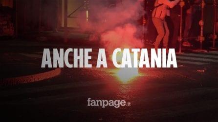Bombe carta contro la prefettura: scontri a Catania alla manifestazione contro il governo