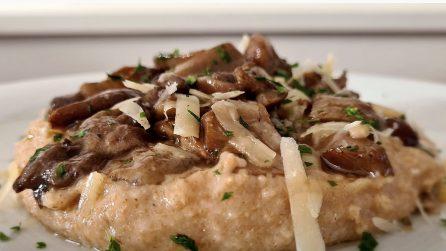 Polenta di farro ai funghi: un piatto autunnale che amerete