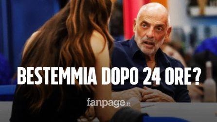 Paolo Brosio bestemmia al Grande Fratello Vip: a 24 ore dall'ingresso rischia la squalifica