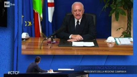 """Covid-19, De Luca: """"I protagonisti delle proteste sono pezzi di.."""""""