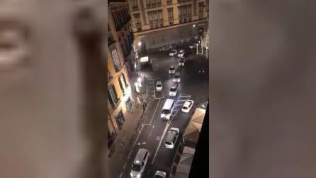 Coronavirus Napoli, protesta dei tassisti a Piazza del Gesù