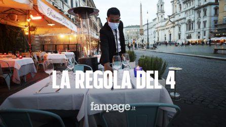 """La """"regola del 4"""" per ristoranti e bar: chi può sedersi al tavolo e chi no"""