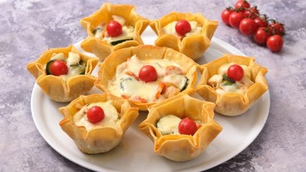 Stuffed baskets: a delicious idea to surprise your guests!