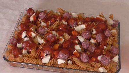 Timballo di pasta con polpettine: la ricetta del primo piatto squisito
