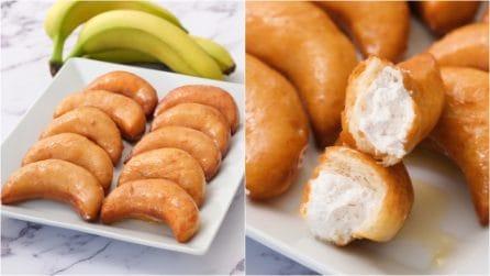 Mezzelune brioche alla banana: il risultato è irresistibile!
