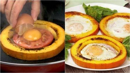 Anelli di zucca farciti di uova: l'idea originale per un piatto saporito e colorato!