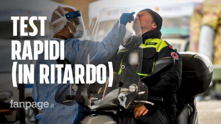 """Milano, nel drive-through più grande d'Italia: """"Rt cala, ma preoccupati per il picco dei ricoveri"""""""