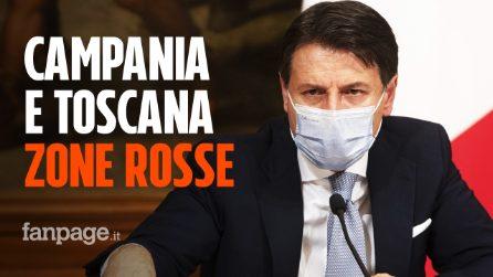 Campania e Toscana diventano zone rosse, altre 3 regioni diventano arancioni: l'elenco aggiornato